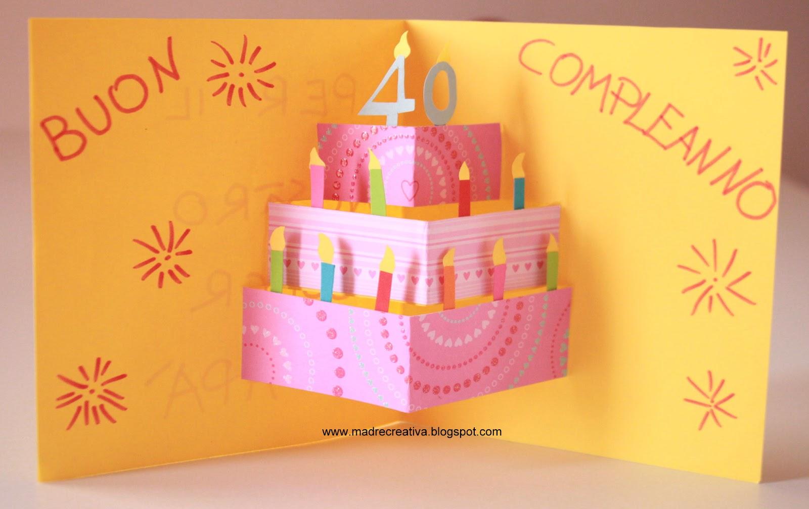 Favoloso Lavoretti - Biglietto pop-up con torta di compleanno - IoCreo SP17