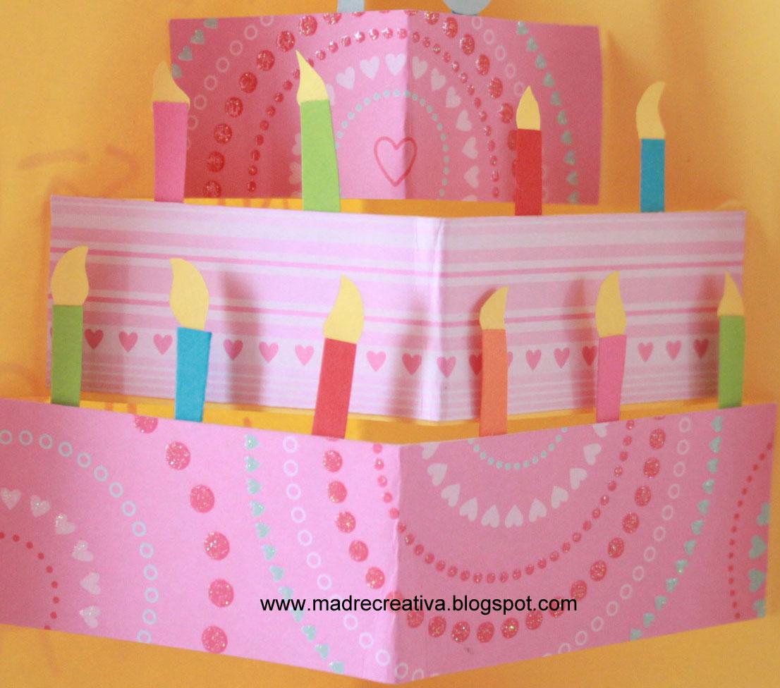 Eccezionale Lavoretti - Biglietto pop-up con torta di compleanno - IoCreo ON86